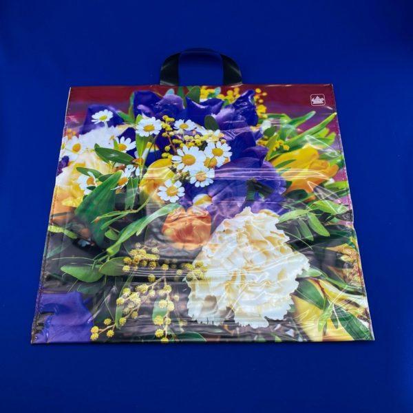 Пакет с петлевой ручкой «Садовый букетик» 42*44см 50/300