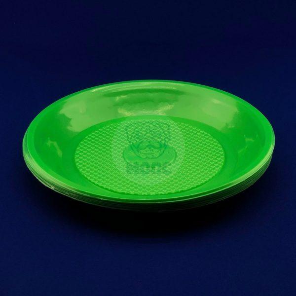 Набор тарелок десертных одноразовых цветных d 200 (10шт) 1/180