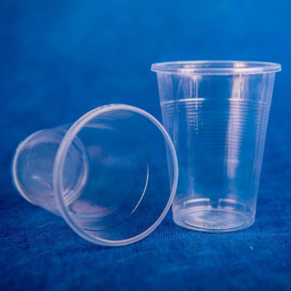 Стаканчик одноразовый 200мл пластиковый прозрачный Стандарт 50/45/2250