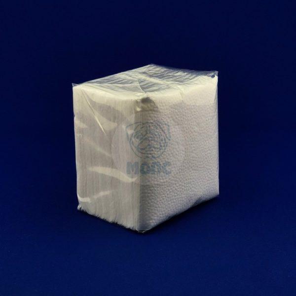 Салфетки бумажные однослойные белые 80л 24х24 см Комфорт 1/48