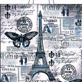 Пакет с петлевой ручкой «Парижский день» 38*42см 25/500