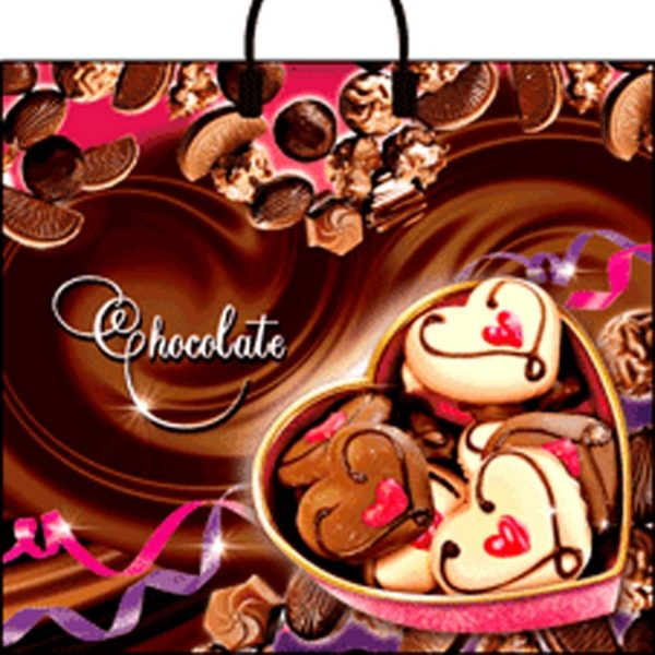 Пакет с пластиковой петлевой ручкой «Шоколад» 38*34см 10/100