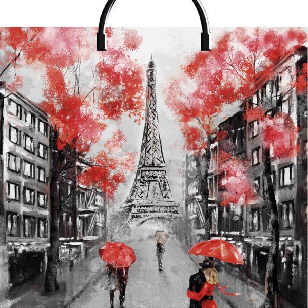 Пакет с пластиковой петлевой ручкой «Париж» 40*44см 10/100