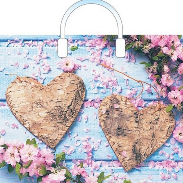 Пакет с пластиковой петлевой ручкой «Романтис» 38*34см 10/100