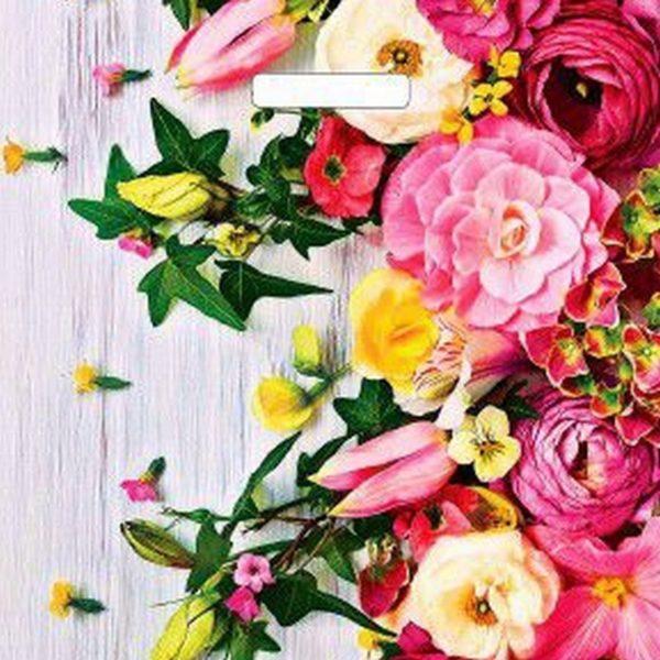 Пакет с вырубной ручкой «Нежные цветы» 38*45см 50/500