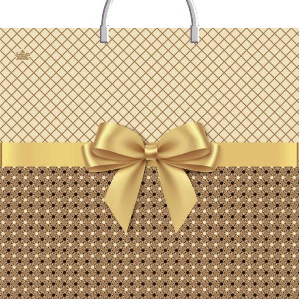 Пакет с пластиковой петлевой ручкой «Золотистый» 40*44см 10/100