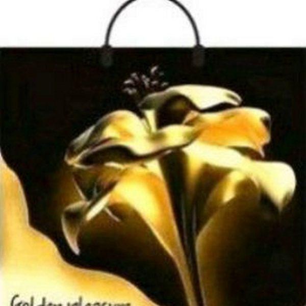 Пакет с пластиковой петлевой ручкой «Золотой цветок» 38*34см 10/100
