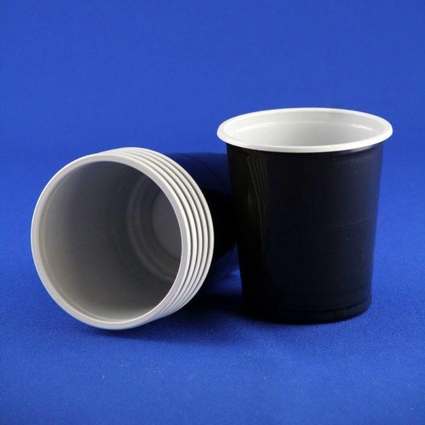 Стакан одноразовый 500мл пластиковый двухслойный Бочонок Экстра черно-белый 80/20/1600