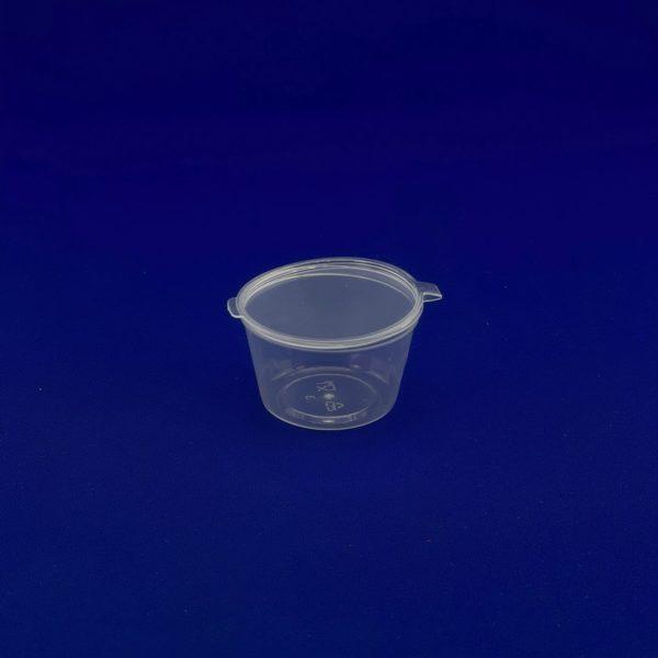 Соусник пластиковый 50мл с неразъемной крышкой 80/1200