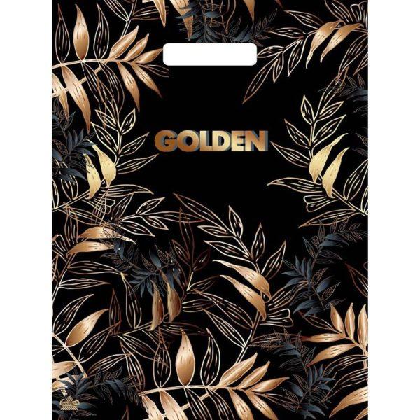 Пакет с вырубной ручкой «Золотой лес» 31*40см 50/1300