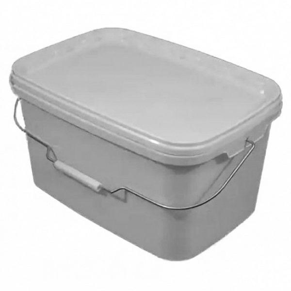 Контейнер многоразовый пластиковый с крышкой и ручкой 20л прозрачный 1/60