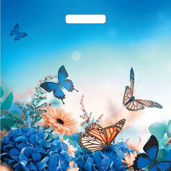 Пакет с вырубной ручкой «Бархатные бабочки» 38*45см 50/500