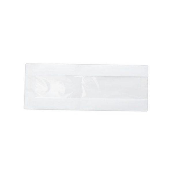 Бумажный пакет с окном без печати 110*60*300мм 100/3000