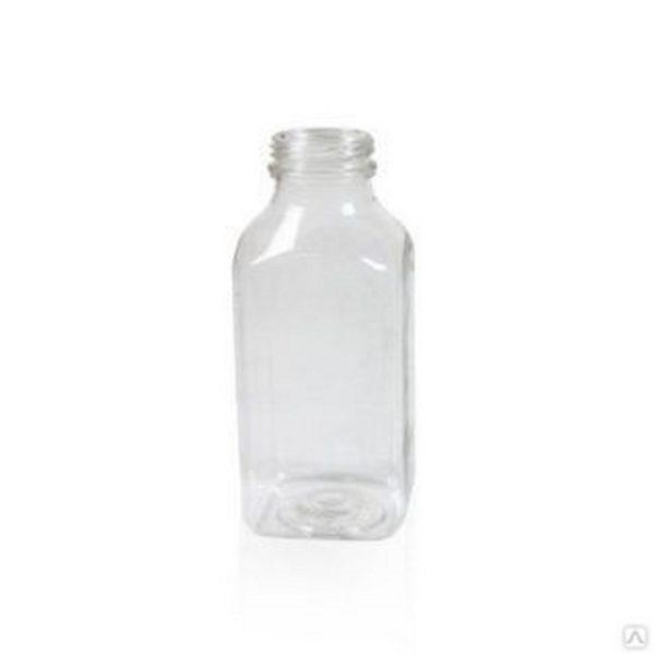 Бутылка пластиковая ПЭТ 0,25л прозрачная квадрат 1/150