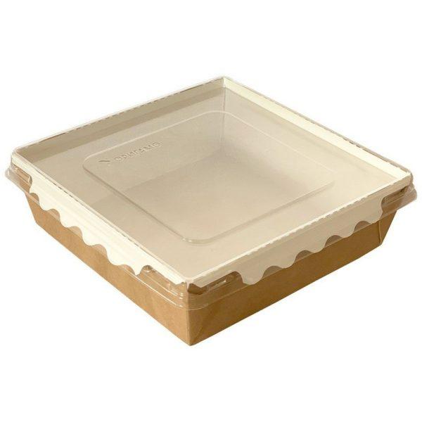 Упаковка для готовых блюд ECO ОрSalad 900мл 150*150*45мм крафт 1/200