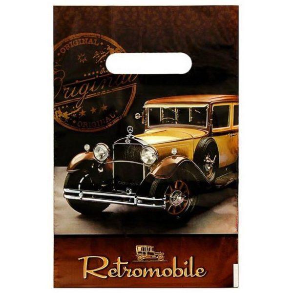 Пакет с вырубной ручкой «Ретромобиль» 20*30см 100/2000