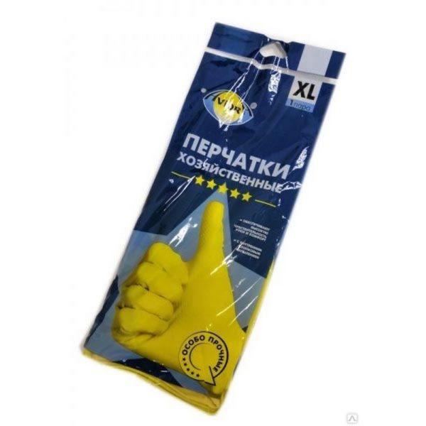 Перчатки резиновые хозяйственные AVIORA XL 1/120