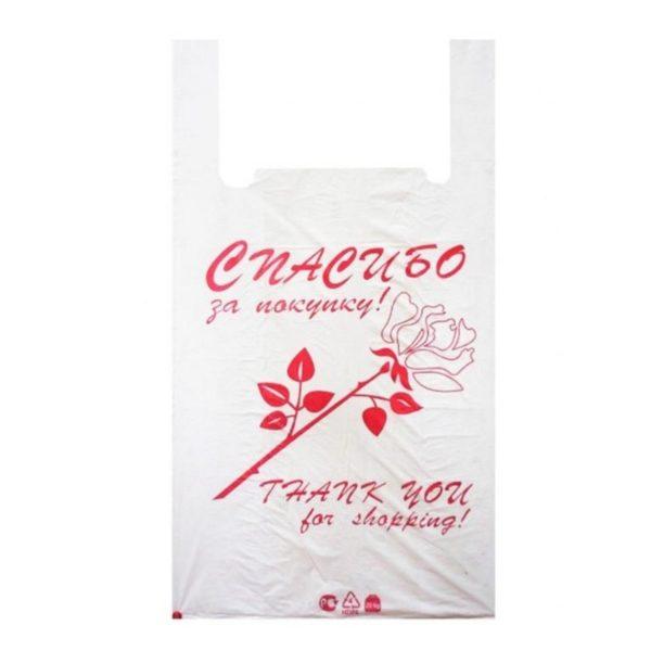 Пакет-майка ПНД 28*50см 10мкм Спасибо за покупку 100/2000