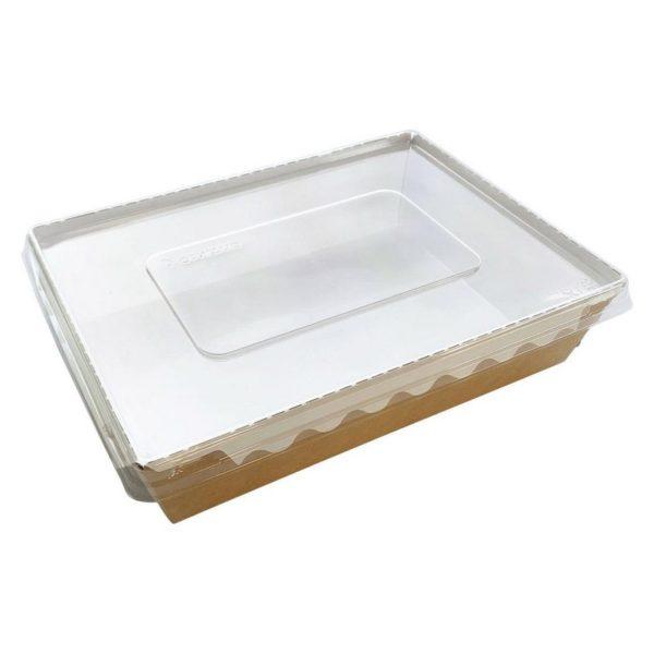 Упаковка для готовых блюд ECO ОрSalad 1000 мл 220*160*55мм крафт 1/200