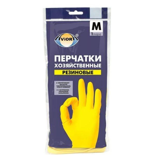 Перчатки резиновые хозяйственные AVIORA M 1/120