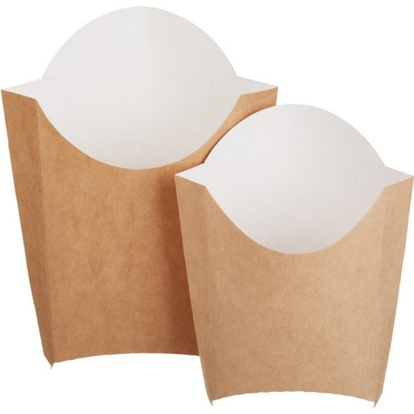 Коробка для картофеля фри 120гр крафт 50/500