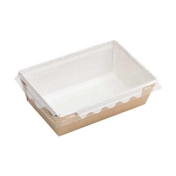 Упаковка для готовых блюд ECO ОрSalad 400мл 145*95*45мм крафт 1/400