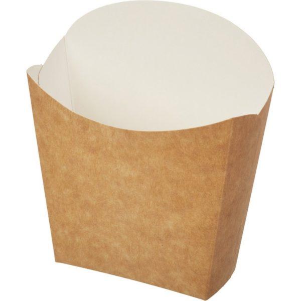 Коробка для картофеля фри 100гр крафт 50/400