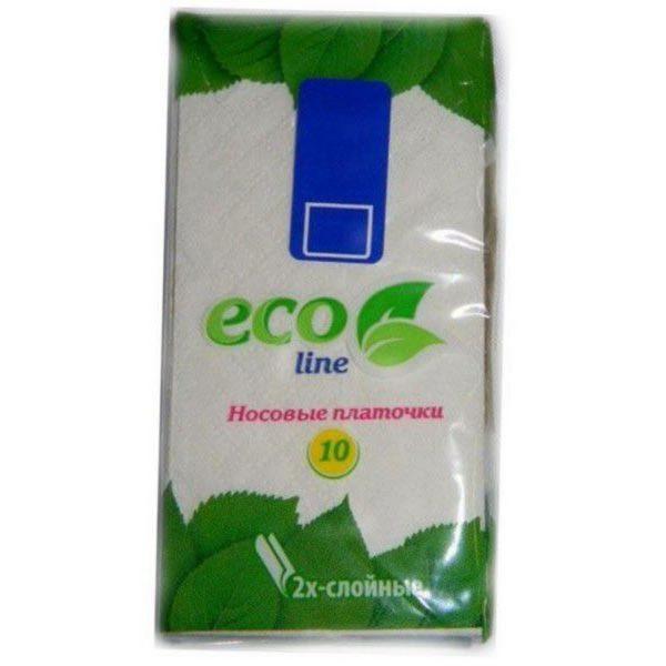 Платочки бумажные ECO LINE 10шт 1/360
